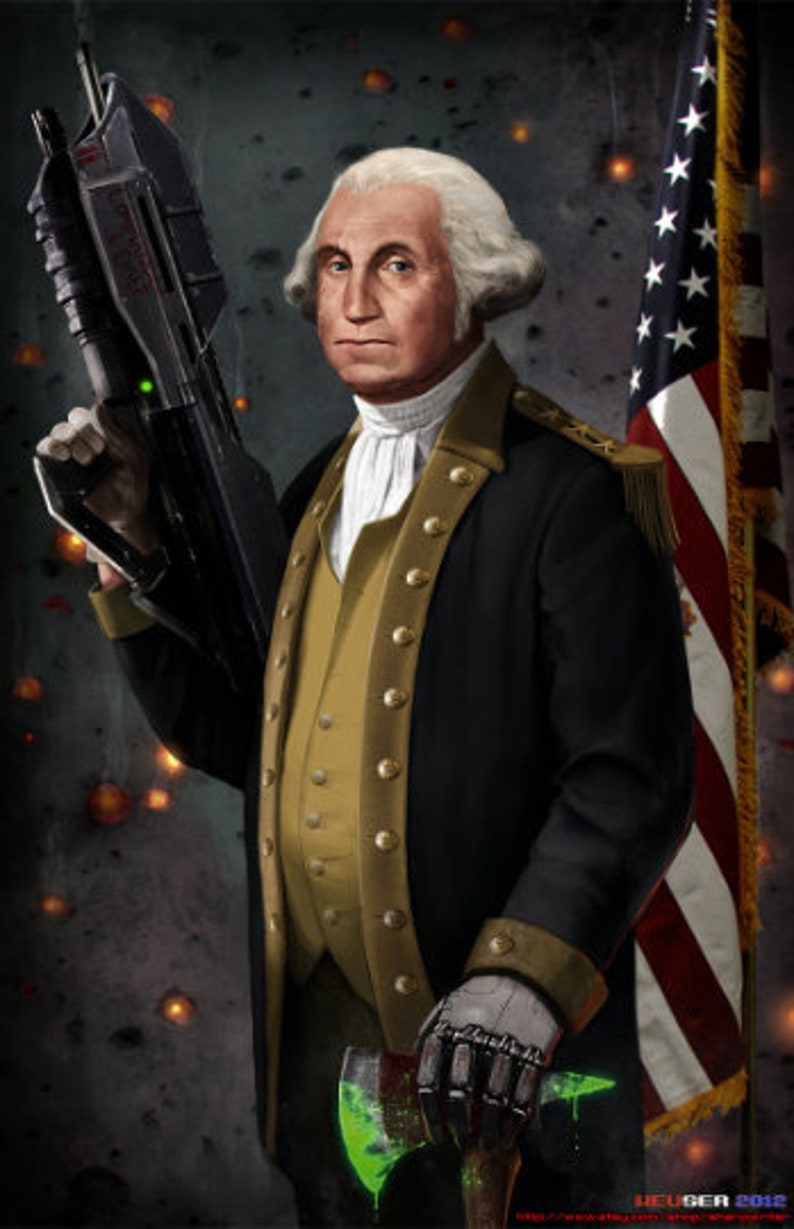 image relating to Printable Pictures of George Washington called George Washington The Authentic Find out Leader HQ 11x17 Print