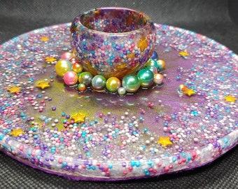 Unicorn & Stars Sprinkles Trinket Tray Jewelry Dish