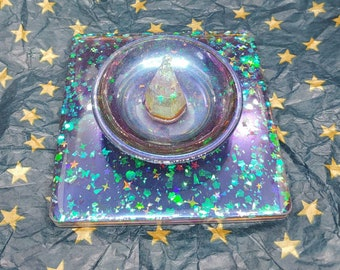 Disney Mickey Ears, Butterflies, and Clear Quartz Decorative tray, trinket dish, jewelry holder, home decor