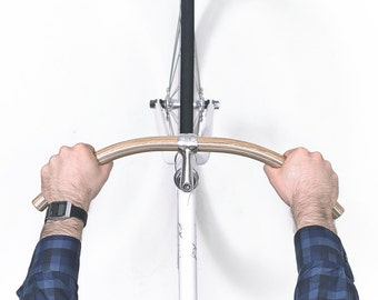 "Oak Wood Handlebar ""BONASUS"" with Built in Aluminum by Woodstick Ltd."
