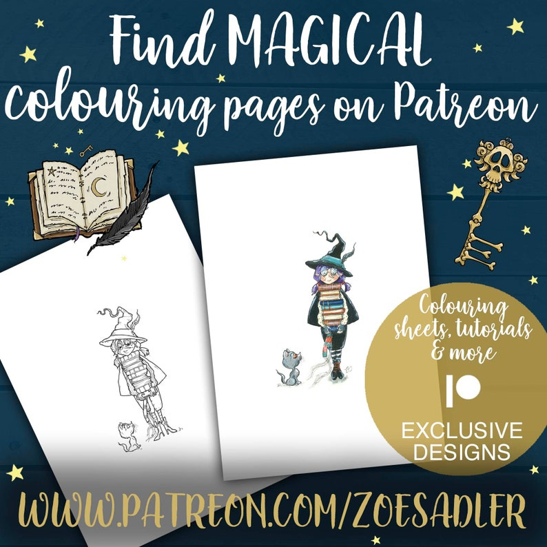 Magical Unicorn A4 Printable Coloring Page for Adults ...