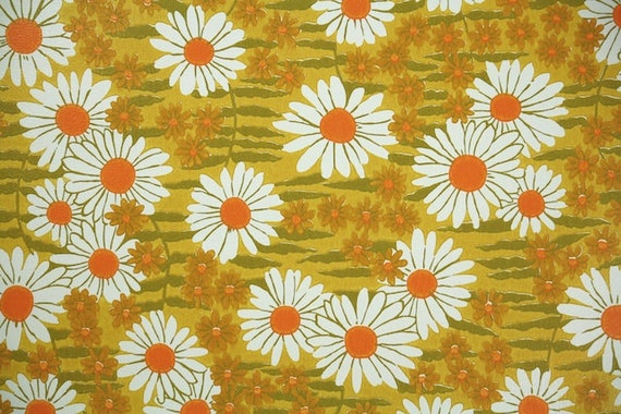 Retro Wallpaper By The Yard 70s Vintage 1970s