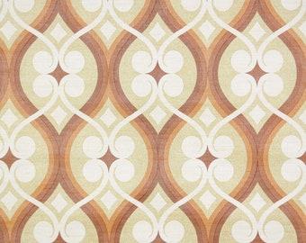 Retro Vintage Wallpaper by the Yard 70s Floral Vintage Wallpaper - Retro 1970s Geometric Vintage Wallpaper Earth Tones Brown Orange Cream