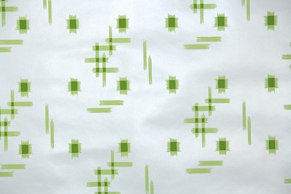 Retro Wallpaper By The Yard 70s Vintage Wallpaper 1970s Lime Etsy