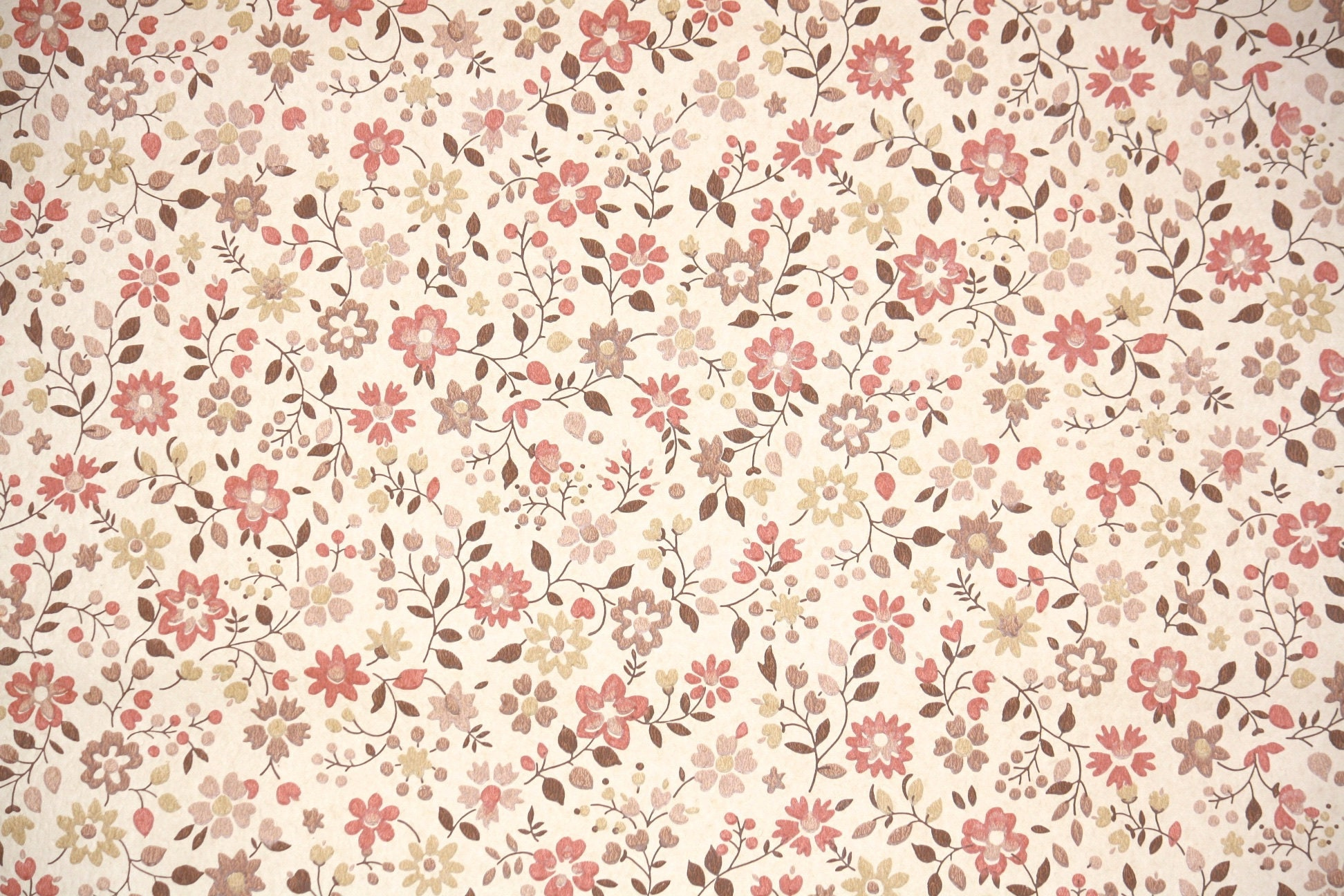 1970s Vintage Wallpaper By The Yard Retro Floral Wallpaper Etsy