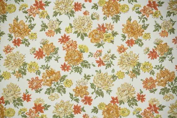 Vintage Wallpaper By The Yard 60s Retro Wallpaper 1960s Etsy