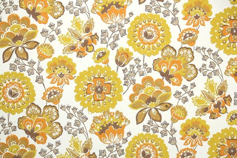 Geliefde Retro behang op maat 60s Vintage Wallpaper jaren 1960 geel | Etsy #VG23