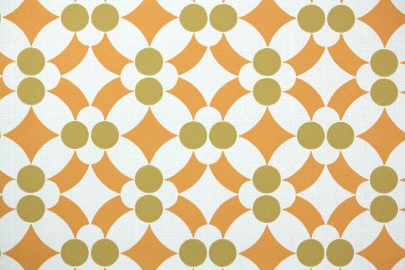 Super Retro behang op maat 60s Vintage Wallpaper jaren 1960 oranje | Etsy &JJ49