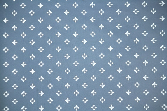 Retro Wallpaper By The Yard 80s Vintage Wallpaper 1980s Blue And White Geometric