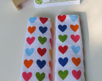 Bright Hearts Car Seat Strap Covers