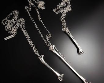 Bone necklace. Bird bones. Raven bones. Bone jewelry