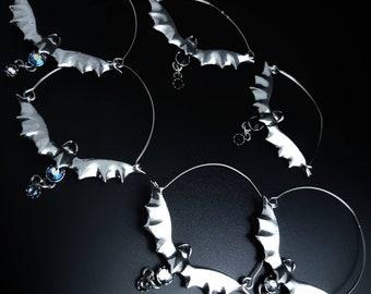 Bat Hoop Earrings