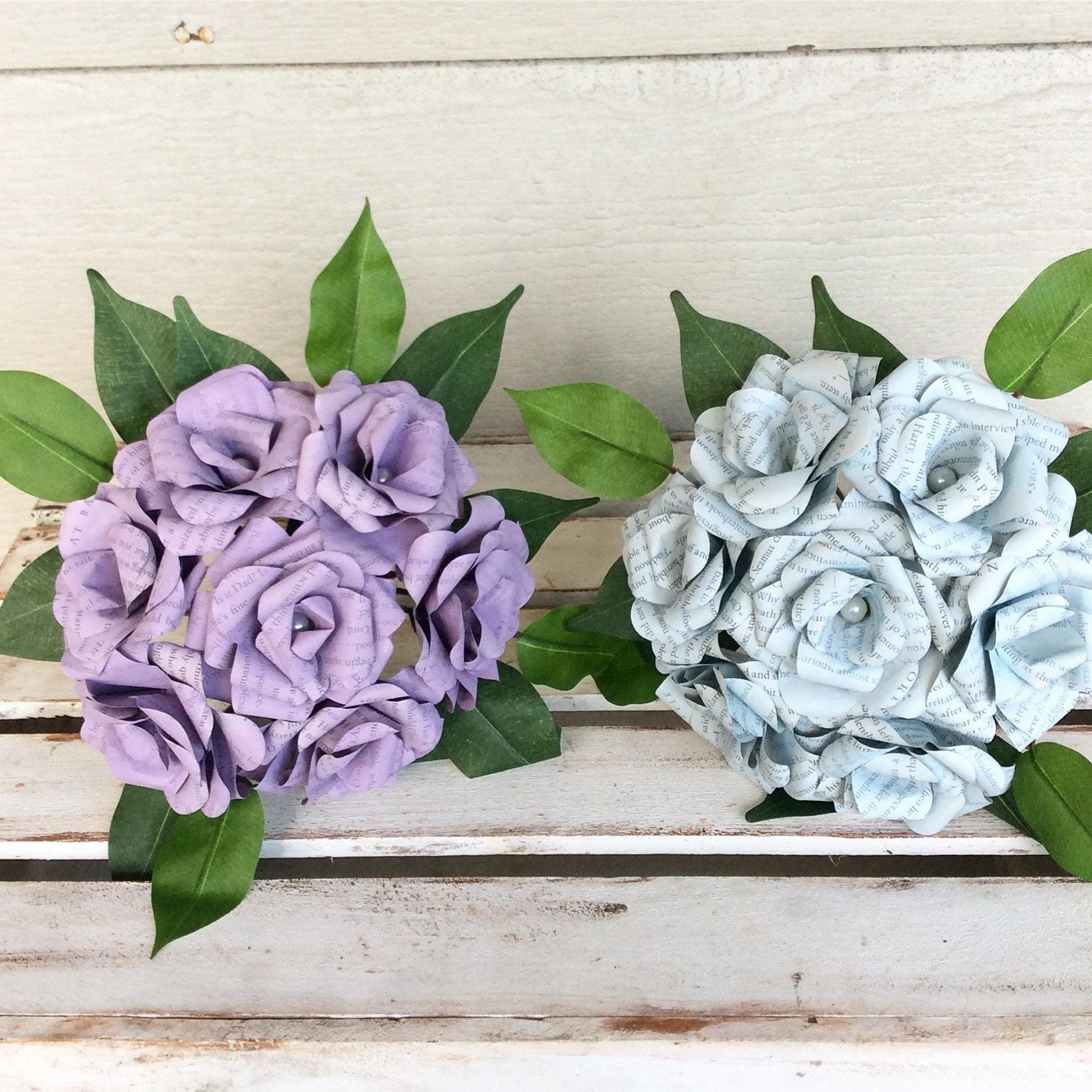 Custom Book Bouquet Weddingbook Flowers Paper Flower Bouquet