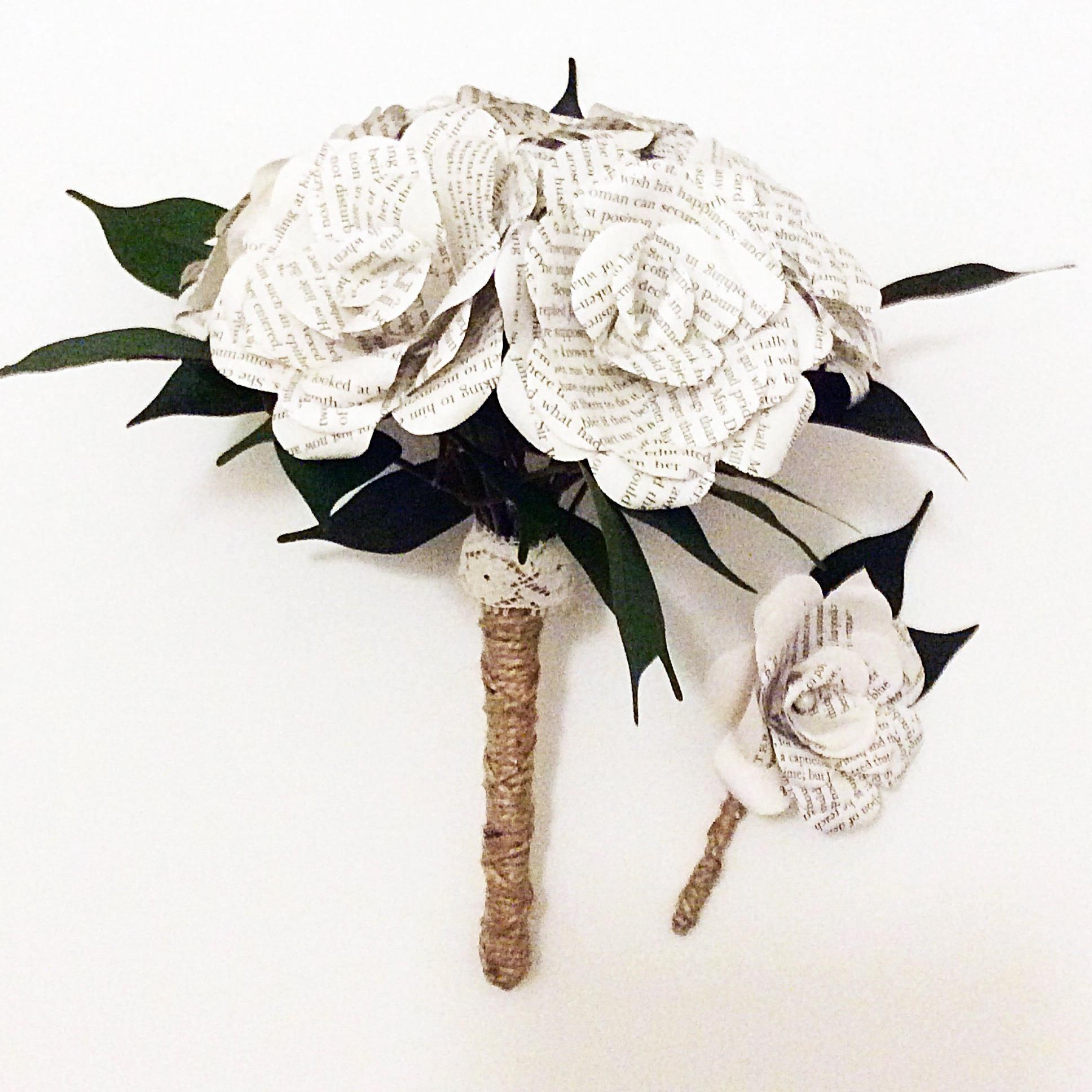 The Alchemist Bouquet Custom Book Bouquet Weddingbook Flowers