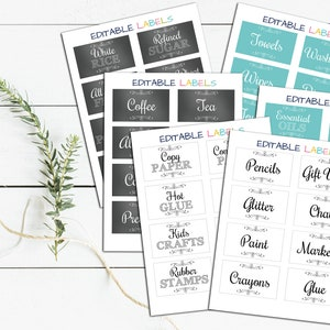Watercolor Instant Download Thank You 50/% OFF SALE Cards Floral Organizing Pantry Notes Editable Chalkboard Labels