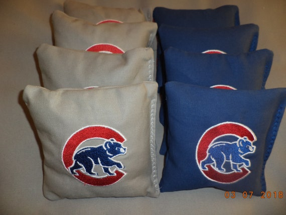 Surprising Cornhole Bags Chicago Cubs Corn Hole Bean Bags Baggo Tailgate Toss Bags Lamtechconsult Wood Chair Design Ideas Lamtechconsultcom