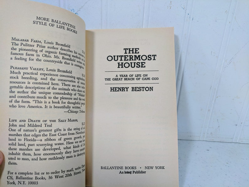 a7380571c3f The Outermost House Book by Henry Beston Enduring Classic A | Etsy