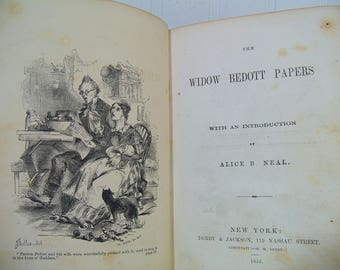 The Widow Bedott Papers by Frances Miriam Berry Whitcher a.k.a. Whicher Published in 1856 - Antique Rare Volume by Victorian Female Humorist