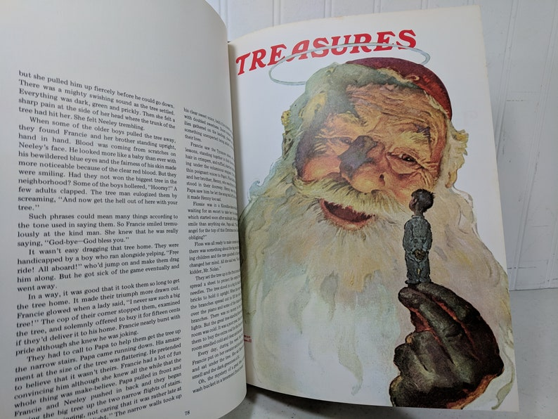 The Saturday Evening Post Christmas Book with Stories Carols Poems Crafts  Recipes Over 100 Illustrations by Norman Rockwell & Others ©1976