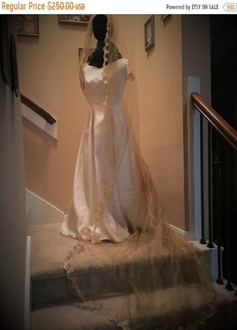 BIG Bridal Veil Gold Veil Handmade Gold Veil  Shiny Gold image 1