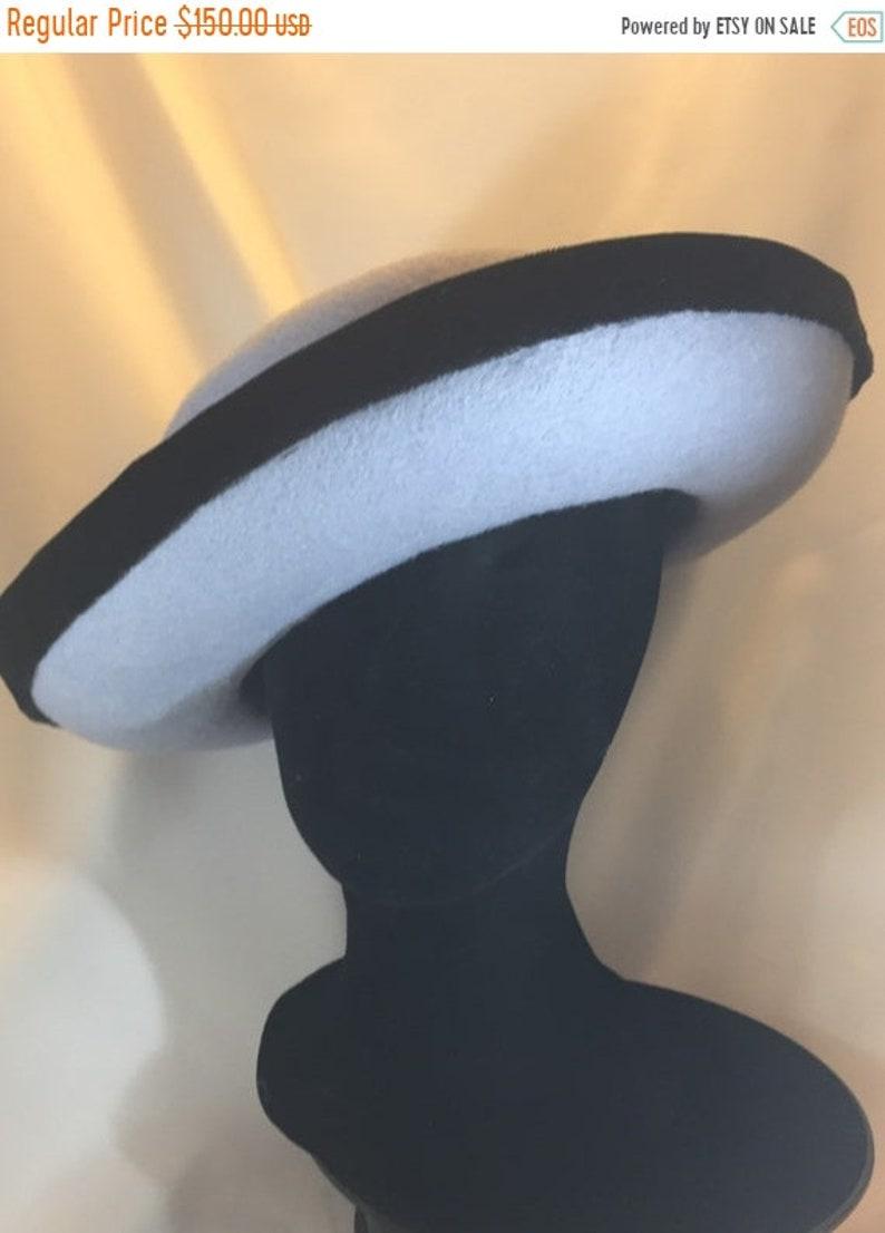 BIG Harriet Hat Hat  Blue Hat Felt Hat Winter Hat Velvet image 1