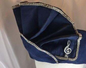 BIG The Aretha Hat, Hat, Pillbox,Blue Hat, Blue Pillbox, Church Hat, Blue Church Hat, Diamond Church Hat. Navy Pillbox, Glorious Crown, Uniq