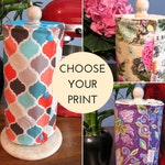 CUSTOM UnPaper Towels with Snaps and Core - Choose Your Print and Terry Color!  - Premium or Rustic Edges
