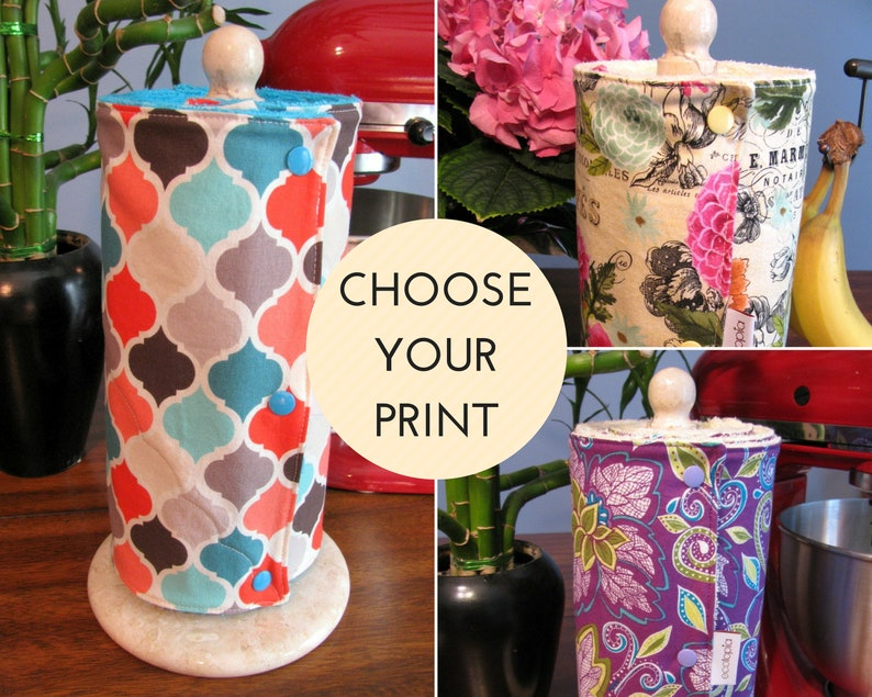 CUSTOM UnPaper Towels with Snaps and Core  Choose Your Print image 0