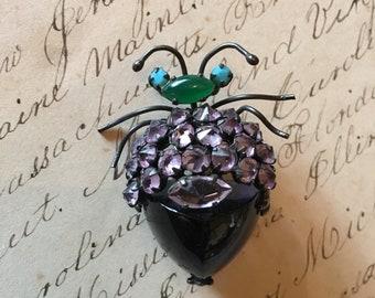 Vintage bug brooch