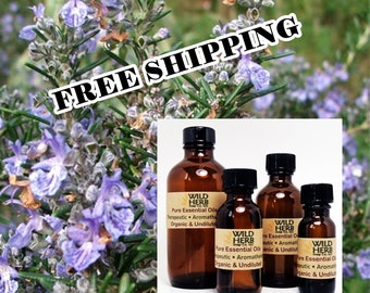 ORGANIC ROSEMARY Essential Oil | Fast, Free Shipping | Pure Therapeutic Grade | Aromatherapy Use | Diffusers | Bulk Sizes Available