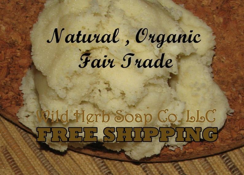 Unrefined SHEA BUTTER Organic  Ghana Fair Trade  Unrefined image 0