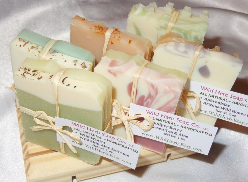Baby OR Bridal Shower Natural Soap Favors  Rustic Elegant  image 0
