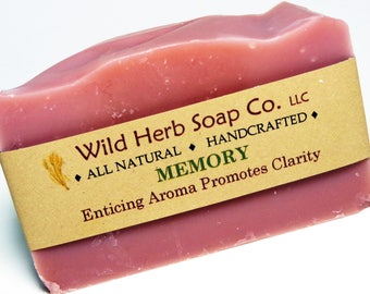NATURAL GLYCERIN SOAP: Memory Exclusive Blend | Organic | Handcrafted | Creamy & Rich