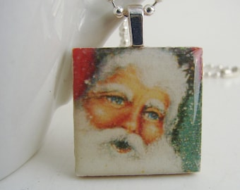 St. Nick Pendant with Free Shiny Ball Chain Necklace