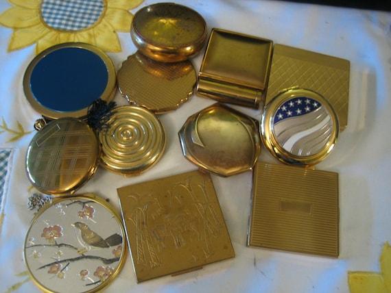 Vintage Lot of 10 Compacts Estee Lauder Elgin Amer