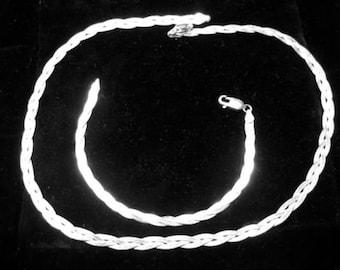 Vintage Sterling Silver Braided Necklace Bracelet