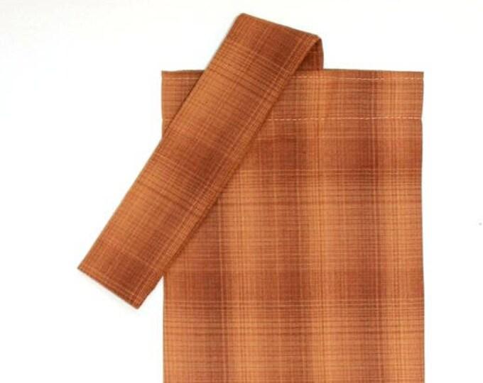 PLASTIC BAG ORGANIZER - Brown, Plaid, Storage, Holder, Bell Art Designs FBH0845
