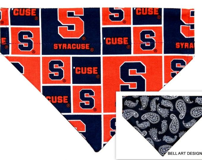 DOG BANDANA ~ Syracuse ~ Over the Collar ~ Reversible ~ Bell Art Designs ~ Medium ~ DCM0734