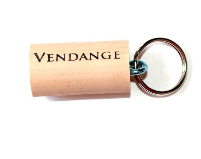 WINE CORK KEYCHAIN, Vendange, Floating, Multiple Key, Bell Art Designs, KC0204