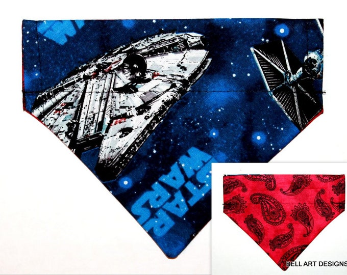 Star Wars ~ Over the Collar ~ Reversible ~ Dog Pet Bandana ~ Bell Art Designs ~ Extra Small ~ DCXS0510