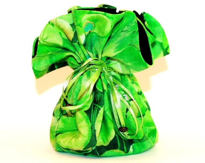 LILY PAD, Fabric, Jewelry Organizer ~ Pouch ~ Storage Case ~ Bag ~ Tote - Bell Art Designs ~ Large 19