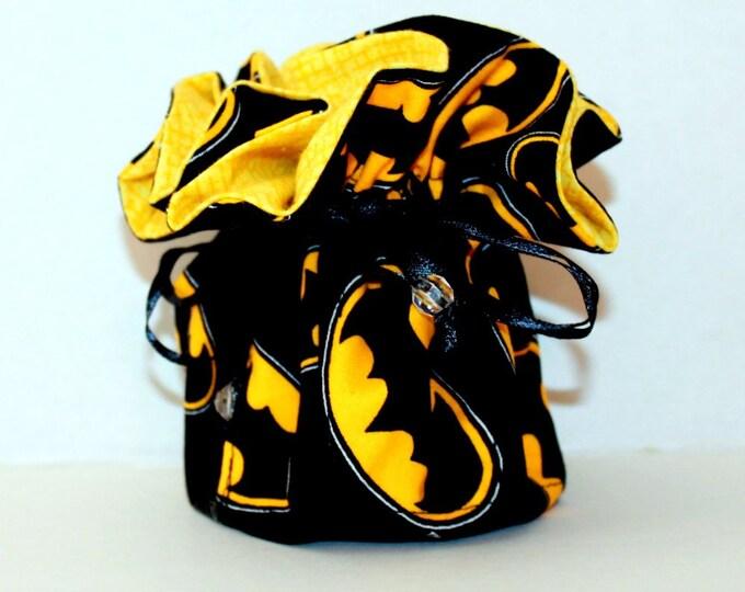 BATMAN, Fabric Jewelry Organizer ~ Pouch ~ Storage Case ~ Bag ~ Tote - Bell Art Designs ~ Medium JBMD0438