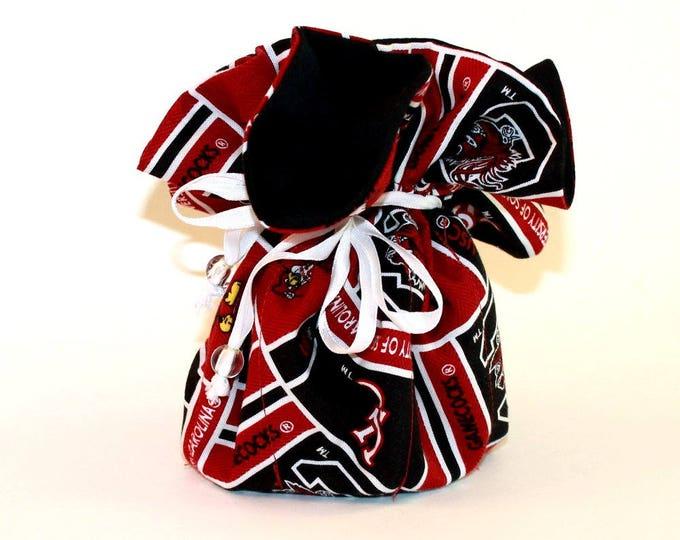 UNIVERSITY SOUTH CAROLINA Fabric Jewelry Organizer ~ Pouch ~ Storage Case ~ Bag ~ Tote - Bell Art Designs ~ Large ~ JBLG0047