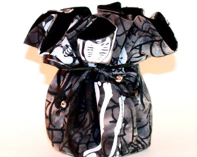 SKELETONS Fabric Jewelry Organizer ~ Pouch ~ Storage Case ~ Bag ~ Tote - Bell Art Designs ~ Medium JBMD0359