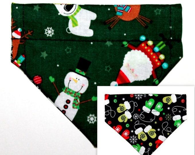 CHRISTMAS ~ Over the Collar ~ Reversible ~ Dog Pet Bandana ~ Bell Art Designs ~ Extra Extra Small DCXXS126
