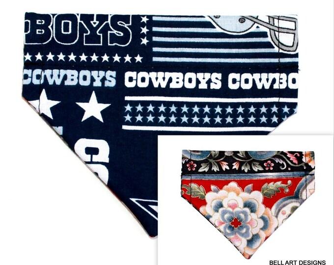 DALLAS COWBOYS ~ Over the Collar ~ Reversible ~ Dog Pet Bandana ~ Bell Art Designs ~ Extra Extra Small DCXXS62