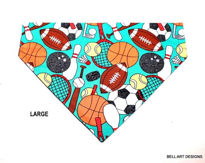 DOG BANDANA ~ Sports ~ Over the Collar ~ Reversible ~ Bell Art Designs