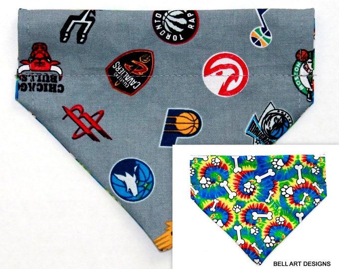 NBA, Basketball ~ Over the Collar ~ Reversible ~ Dog Pet Bandana ~ Bell Art Designs ~ Extra Small ~ DCXS0488