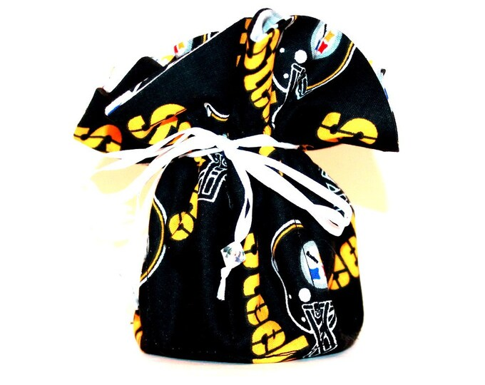 PITTSBURGH STEELERS Fabric Jewelry Bag, Organizer, Pouch, Storage, Case, Tote ~ Bell Art Designs ~ Medium ~ JBMD0391