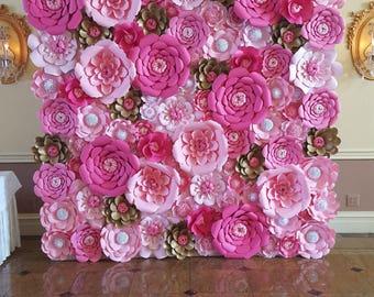 Flower making paper name ukrandiffusion paper flower wall etsy mightylinksfo